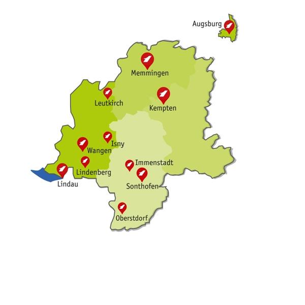 Seitz Standortkarte Allgäu