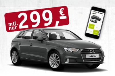 Audi A3 Sportback für 199,- € monatlich + iphone8