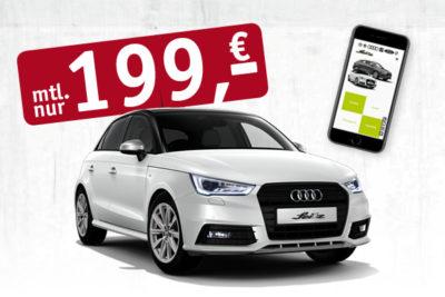 Audi A1 für 199,- € monatlich + iphone8
