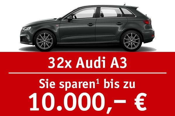 32x Audi A3 - Bis zu 10000 Euro sparen