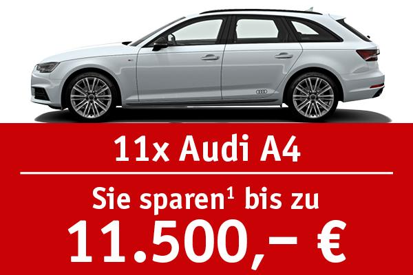 11x Audi A4 - Bis zu 11500 Euro sparen