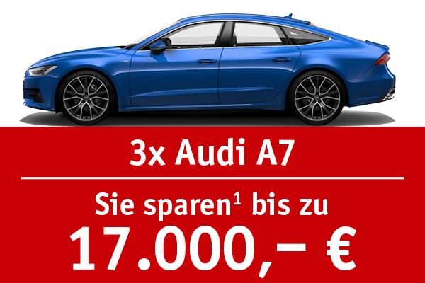 3x Audi A7 - Bis zu 17000 Euro sparen