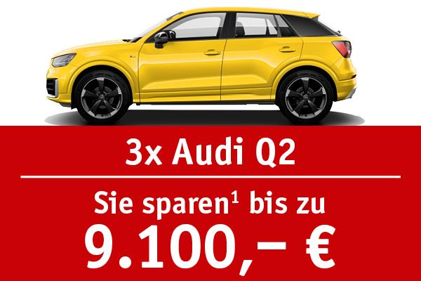 3x Audi Q2 - Bis zu 9100 Euro sparen