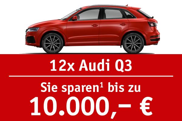 12x Audi Q3 - Bis zu 10000 Euro sparen