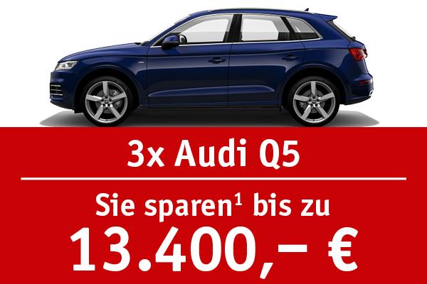 3x Audi Q5 - Bis zu 13400 Euro sparen