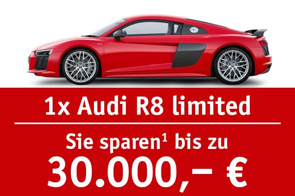 1x Audi R8 - Bis zu 30000 Euro sparen