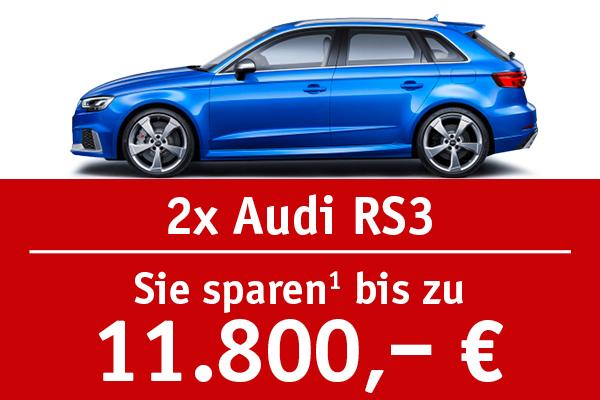 2x Audi RS3 - Bis zu 11800 Euro sparen