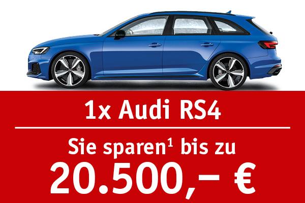 1x Audi RS4 - Bis zu 20.500 Euro sparen