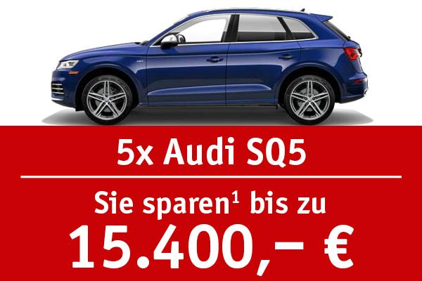 5x Audi SQ5 - Bis zu 15400 Euro sparen