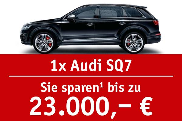 1x Audi SQ7 - Bis zu 23000 Euro sparen