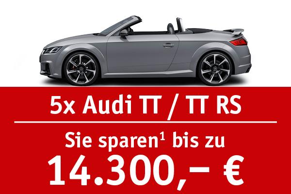 5x Audi TT und TT RS - Bis zu 14300 Euro sparen